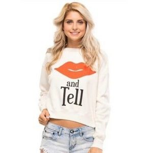 Wildfox Couture Kiss And Tell Sloan Sweatshirt